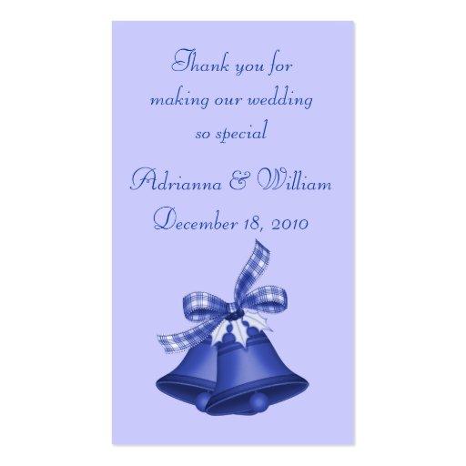 Signet - Noël Bells dans le bleu Modèles De Cartes De Visite