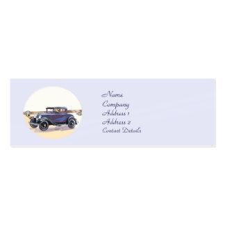 signet vintage d automobile des années 1920 ou car modèle de carte de visite