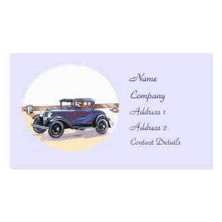 signet vintage ou carte d'automobile des années 19 modèles de cartes de visite