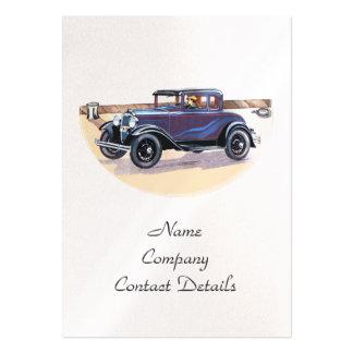 signet vintage ou carte de perle d'automobile des carte de visite grand format
