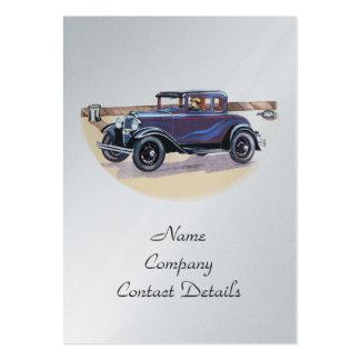 signet vintage ou carte de platine d'automobile de carte de visite