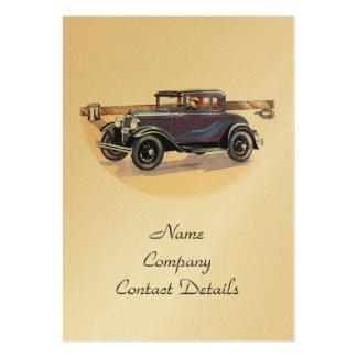 signet vintage ou carte d'or d'automobile des carte de visite grand format
