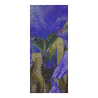 Signets de jardin d'iris cartons d'invitation