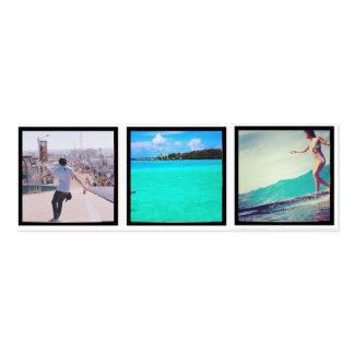 signets de photo d'instagram carte de visite petit format