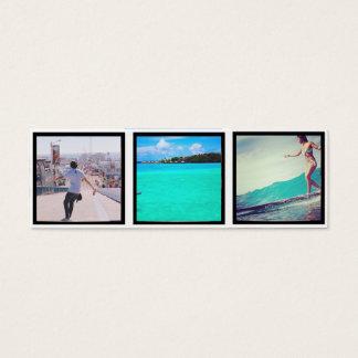 signets de photo d'instagram mini carte de visite