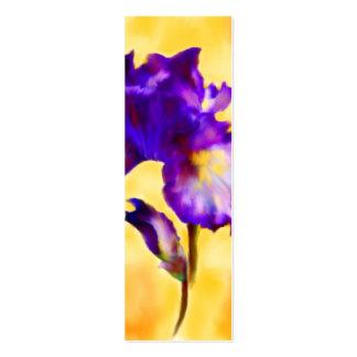 Signets pourpres d'iris (fleur) cartes de visite professionnelles