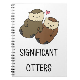 SIGNIFICANT OTTERS couple's shirts, accessories Spiral Notebook
