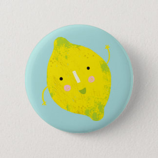 signing lemon 2 inch round button