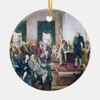 Signing of the Constitution by Howard C. Christy Ceramic Ornament