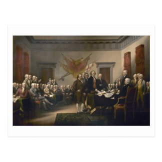Signing the Declaration of Independence, July 4th Postcard