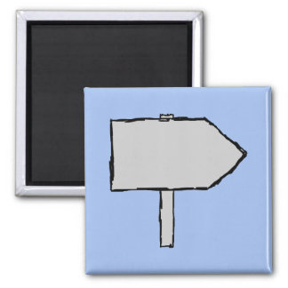 Signpost Arrow. Gray, Black and Blue. Magnet
