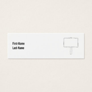 Signpost Notice. Gray and white. Mini Business Card