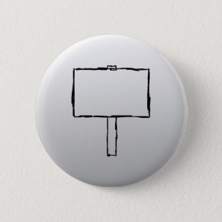 Signpost Notice Image. Black on gray. 2 Inch Round Button