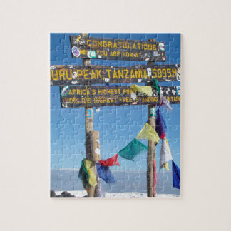 Signpost  on the  Summit of Kilimanjaro kenya Jigsaw Puzzle