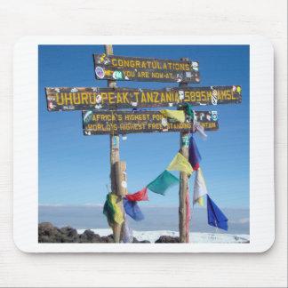 Signpost  on the  Summit of Kilimanjaro kenya Mouse Pad