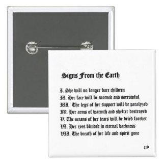Signs From The Earth 2 Inch Square Button