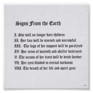 Signs From The Earth Poster
