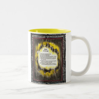 Signs of Courage Two-Tone Coffee Mug