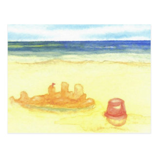 Signs of Life - Sandcastles & Buckets on the Beach Postcard