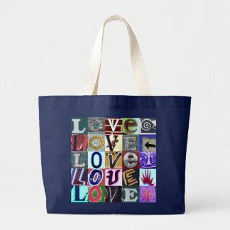 """Signs of LOVE"" Jumbo Tote Bag"