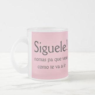 Siguele pa que veas como te va a ir frosted glass coffee mug