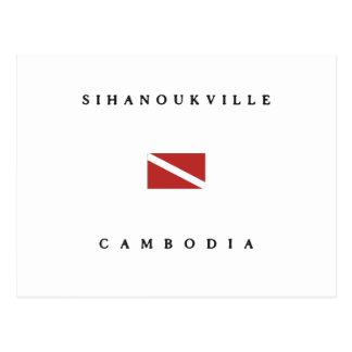 Sihanoukville Cambodia Scuba Dive Flag Postcard
