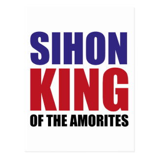 Sihon King of the Amorites Postcard