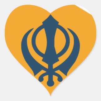 Sikh Art/Symbol Heart Sticker