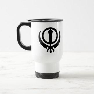 Sikhism Symbol Stainless Steel Travel Mug
