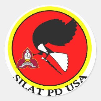 Silat PD usa Classic Round Sticker