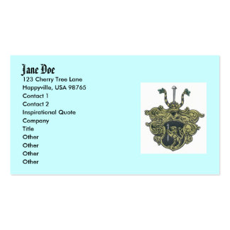 silbernagelcoatofarms, Jane Doe, 123 Cherry Tre... Business Card