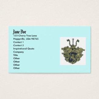 silbernagelcoatofarms, Jane Doe, 123 Cherry Tre... Business Card