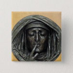 Silence, 1848 2 inch square button