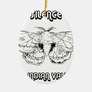 SILENCE AT INDIAN VALLEY CERAMIC ORNAMENT