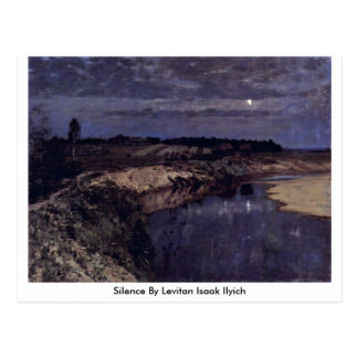 Silence By Levitan Isaak Ilyich Postcard
