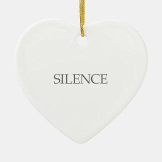 Silence Ceramic Ornament
