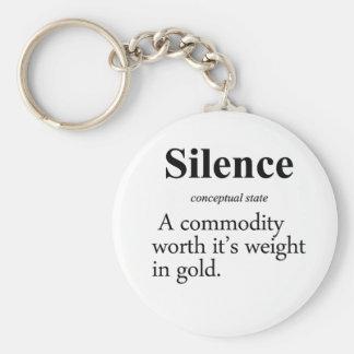 Silence Definition Basic Round Button Keychain