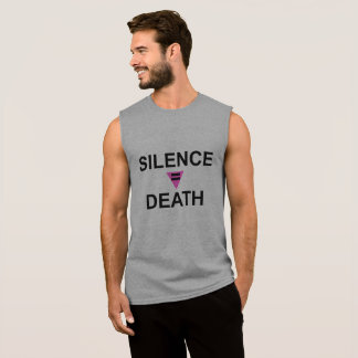 SILENCE EQUALS DEATH SLEEVELESS SHIRT