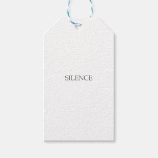 Silence Gift Tags