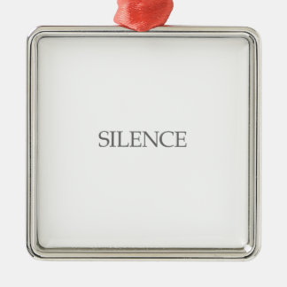 SILENCE METAL ORNAMENT