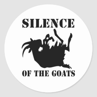 Silence of the Goats Round Sticker