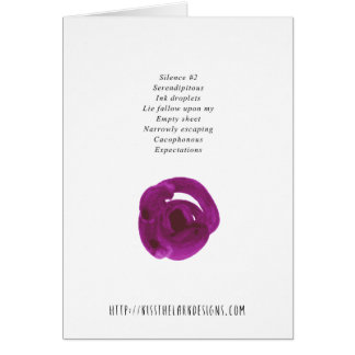 Silence - Poetry by Jessica Fuqua Card
