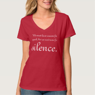 Silence Proverb T-Shirt
