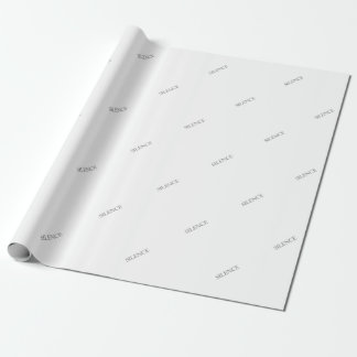 SILENCE WRAPPING PAPER
