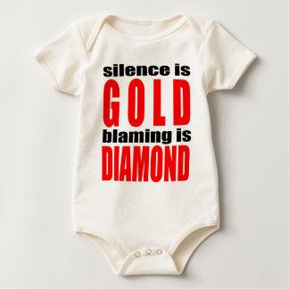 SILENCEISGOLD blamingisdiamond silence gold couple Baby Bodysuit