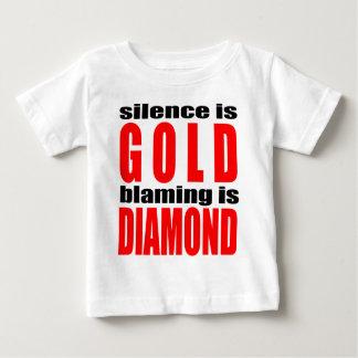 SILENCEISGOLD blamingisdiamond silence gold couple Baby T-Shirt