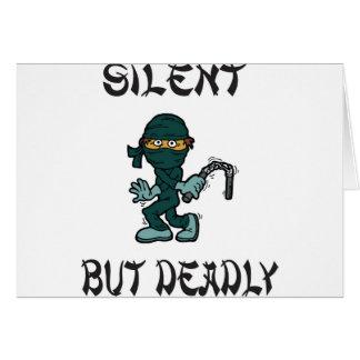 silent but deadly Ninja Fart Card