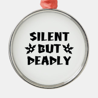 Silent But Deadly Silver-Colored Round Ornament