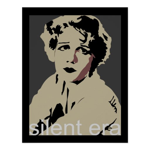 silent era film tee poster