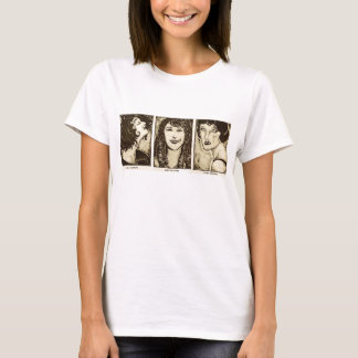 Silent film female acting legends T-shirt